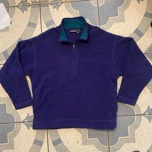 Vintage Patagonia USA 1/4 Zip Fleece Pullover Sz L